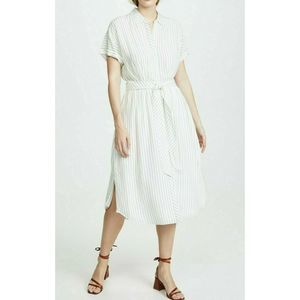 Joie chellie striped belted shirt dress